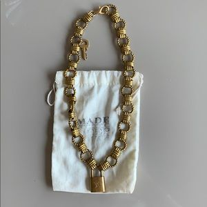 Antique Louis Vuitton Gold chain necklace